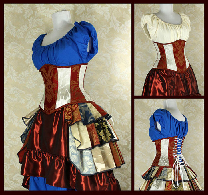 Victorian Steampunk Corset - Steampunk Gifts For Her