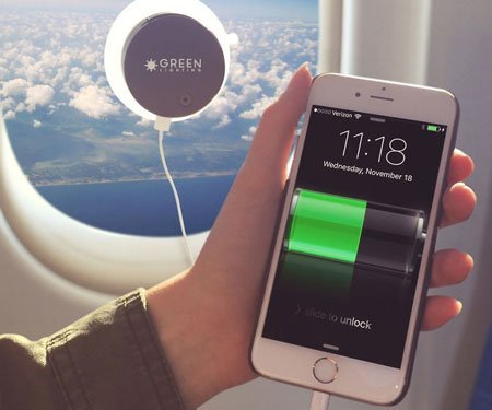 Window-Cling Solar Phone Charger