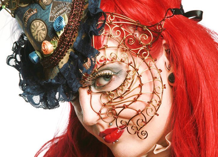 Women's Steampunk Half-Face Mask - Steampunk Gifts For Her