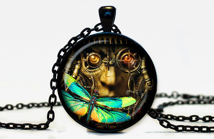Steampunk Pendant Necklace - Steampunk Gifts For Her