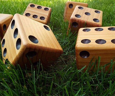 Big Wooden Yard Dice