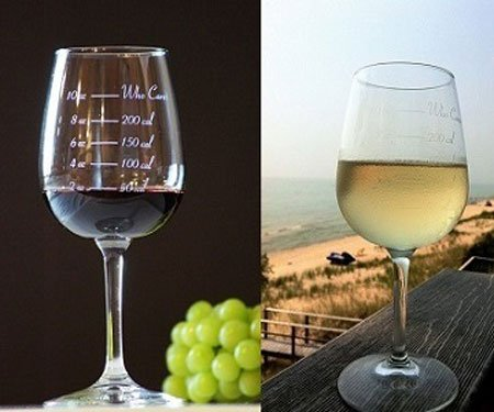 Calorie Counting Wine Glass