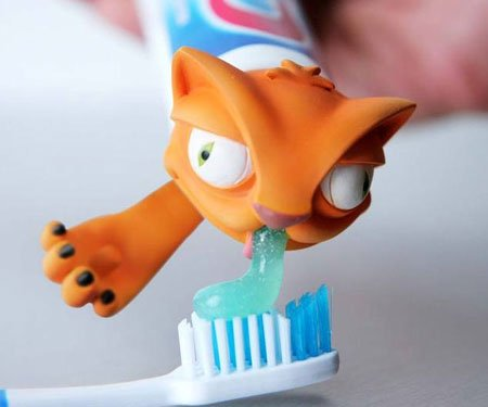 Cat Puke Toothpaste Dispenser