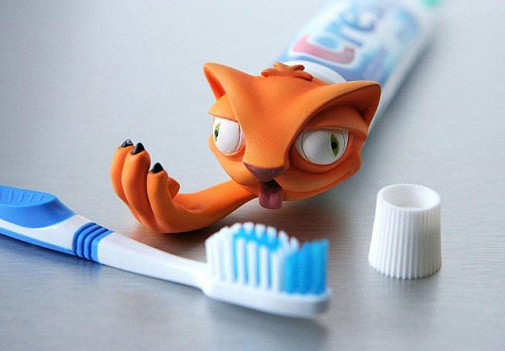 Cat Puke Toothpaste Dispenser