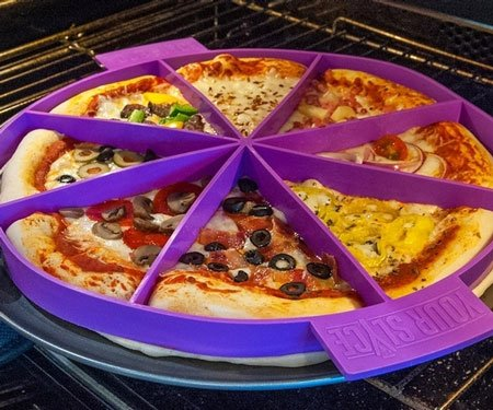 Customizable Pizza Slice Toppings Divider