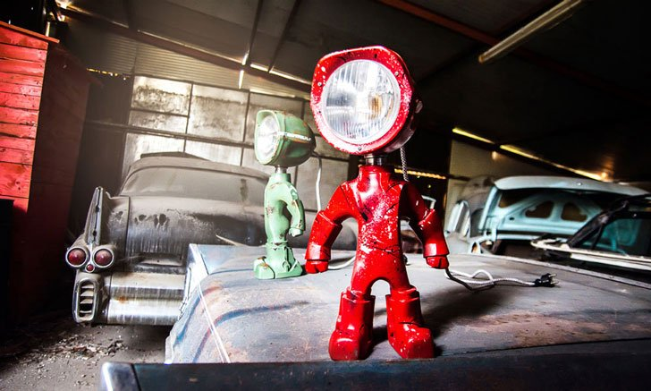 Customizable Robot Lamp - Lampster - cool lamps
