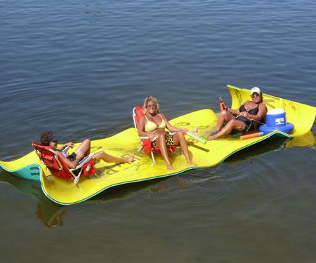 Floating Foam Pads - aqua lily pads