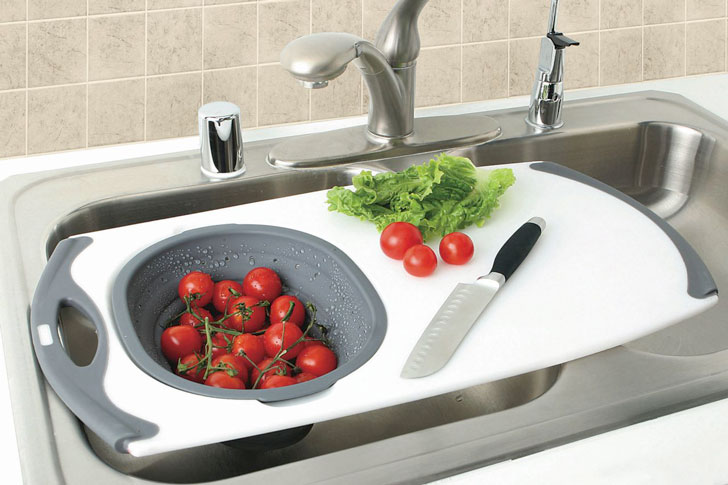 Over The Sink Cutting Board - cool cutting boards
