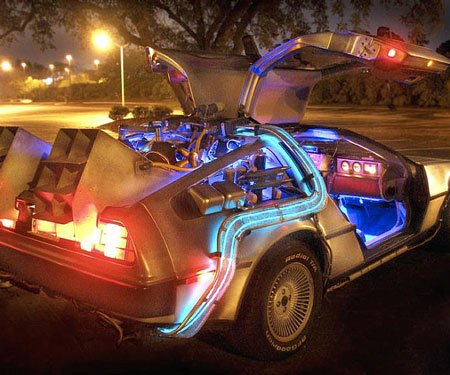 replica back to the future car awesome stuff 365. Black Bedroom Furniture Sets. Home Design Ideas