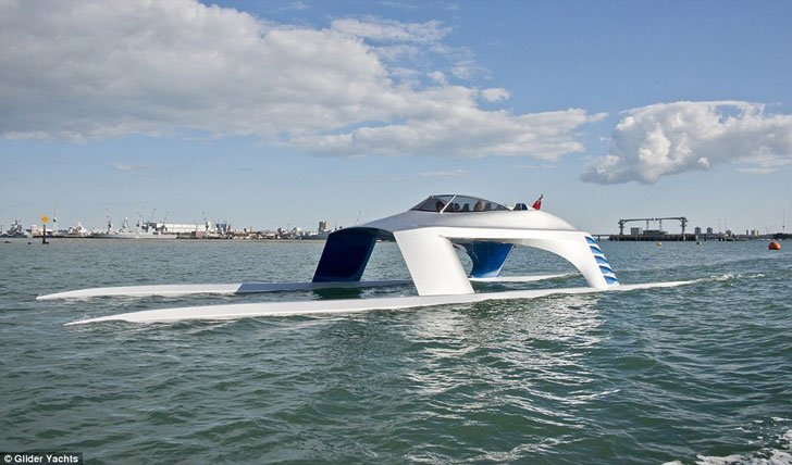 luxury glider yacht