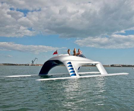 luxury glider yacht
