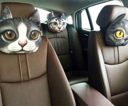 Cat and Dog Headrest Car Pillows