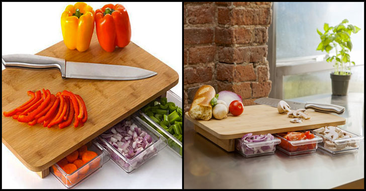 concealed drawers cutting board