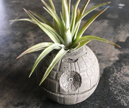 Death Star Concrete Planters