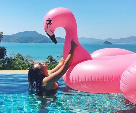 Giant Flamingo Pool Float
