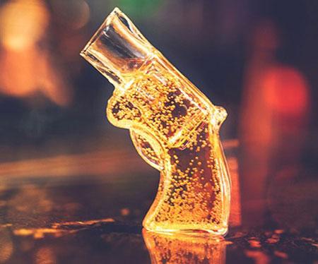 Revolver Gun Shot Glass