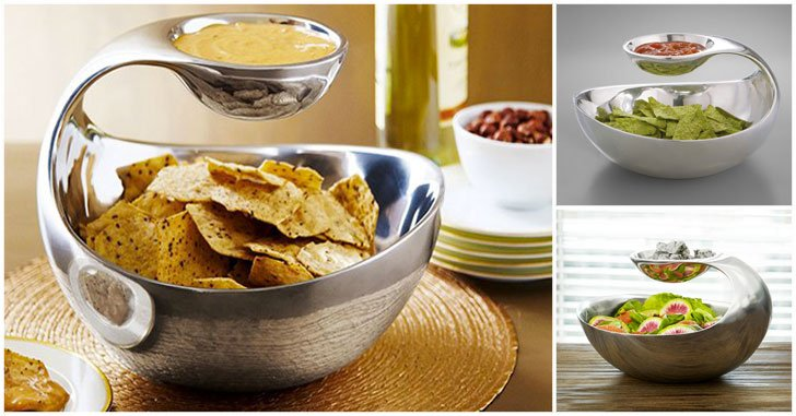 Scoop Chip and Dip Bowl