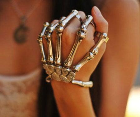 Skeleton Hand Bracelets