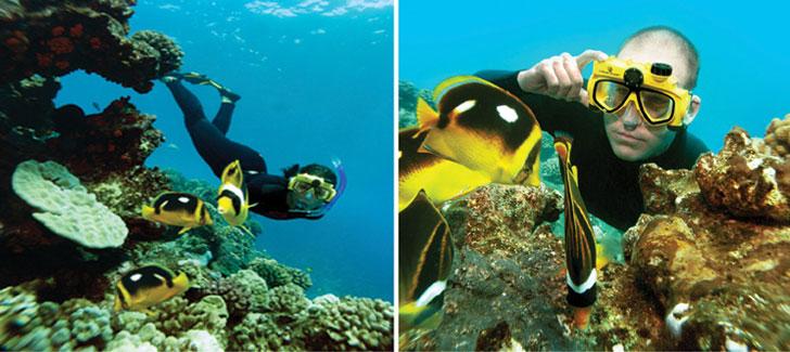 snorkel camera mask