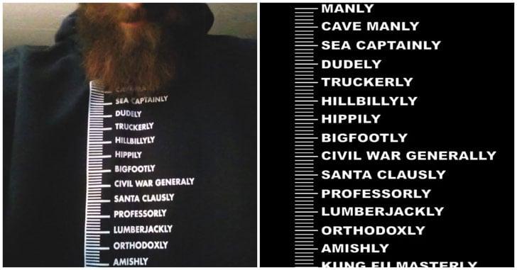 Beard Measurement Chart T Shirt Awesome Stuff 365