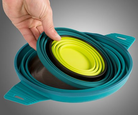 collapsible dinnerware