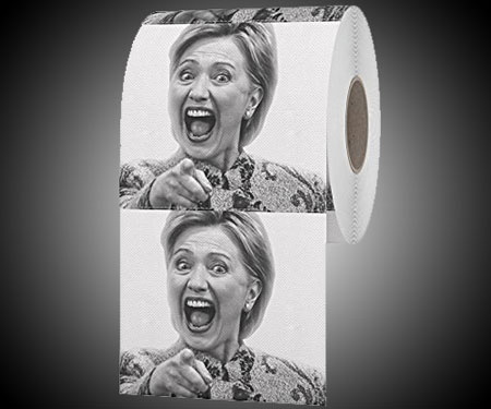 hillary clinton toilet paper