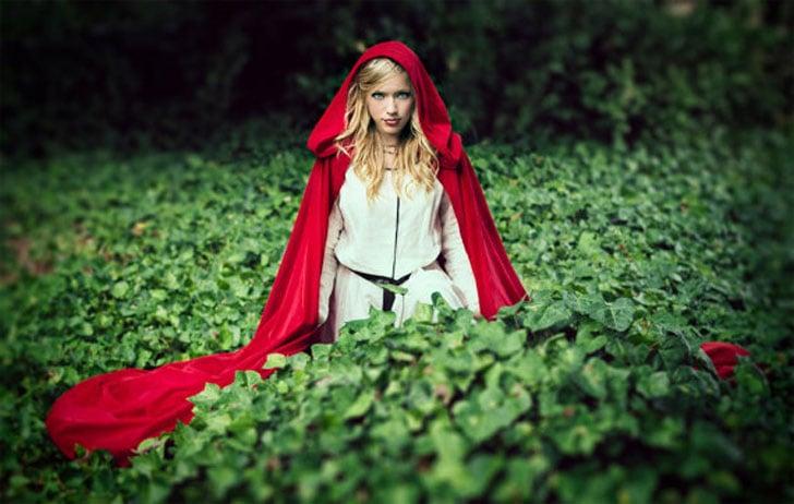 Red Velvet Hooded Cloak
