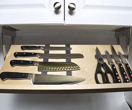 Under Cabinet Magnetic Knife Rack