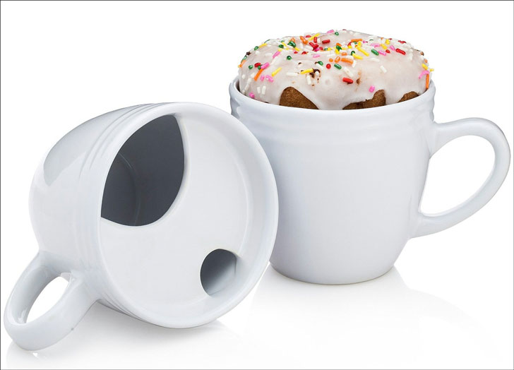 donut warming coffee mug
