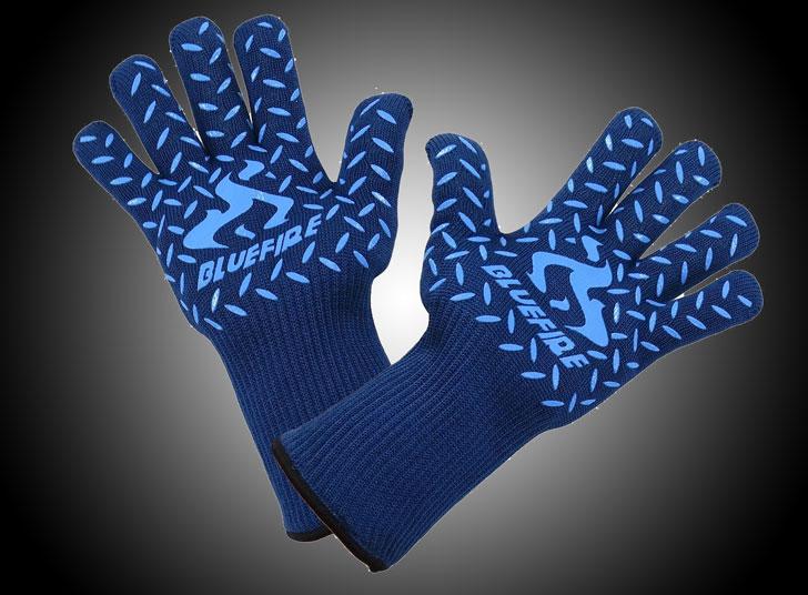 heat resistant gloves - blue fire pro