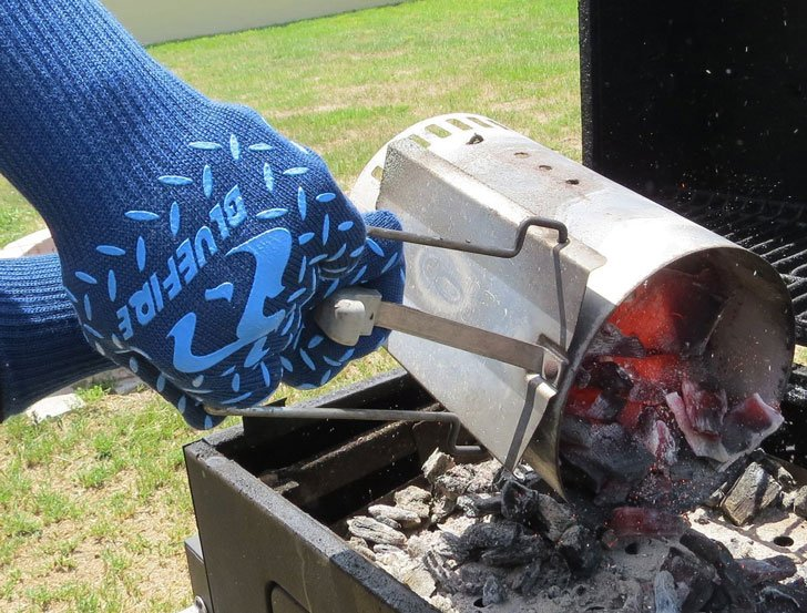 heat resistant gloves - blue fire pro