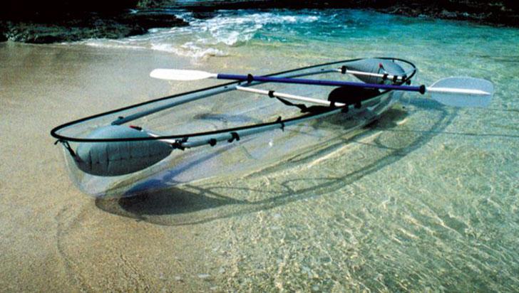 transparent kayak