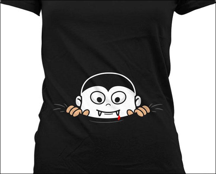 Baby Vampire Peeking Shirt