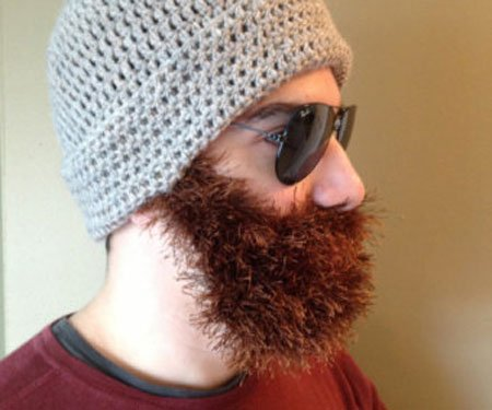 Hand Knitted Beard Hats