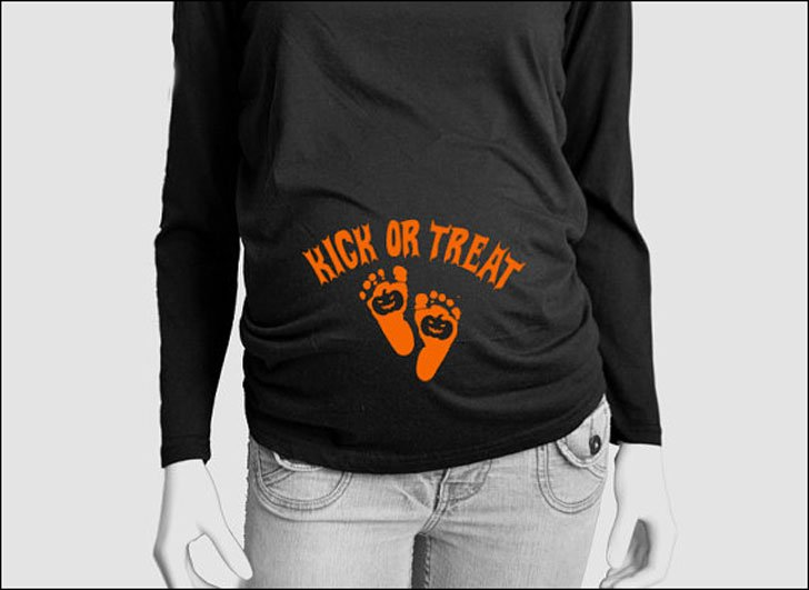 Kick or Treat Maternity Shirt - Halloween Shirts For Pregnant Moms