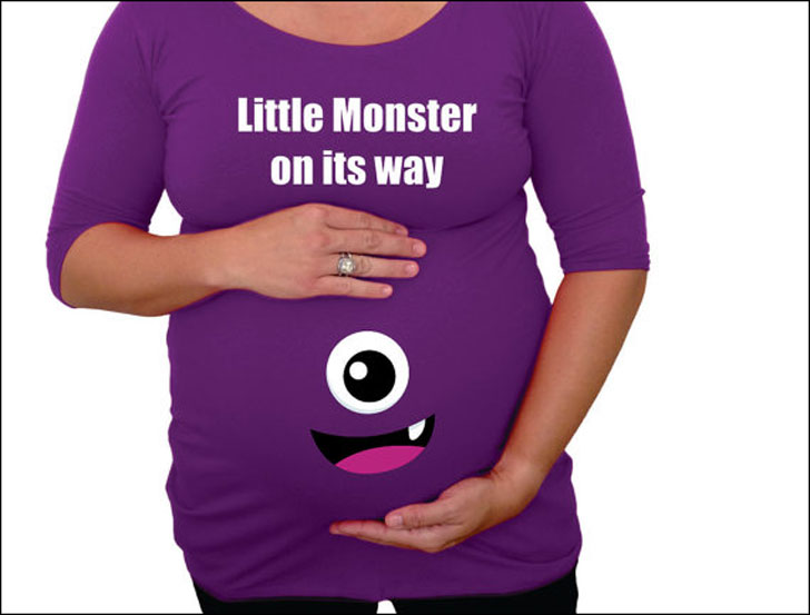 Little Monster On Its Way Maternity Shirt