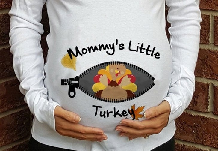 Momma's Little Turkey Maternity Shirt