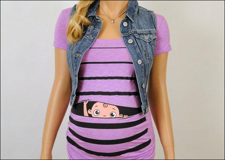 Peek-a-Boo Baby Maternity Shirt