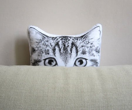 Peeking Cat Cushion