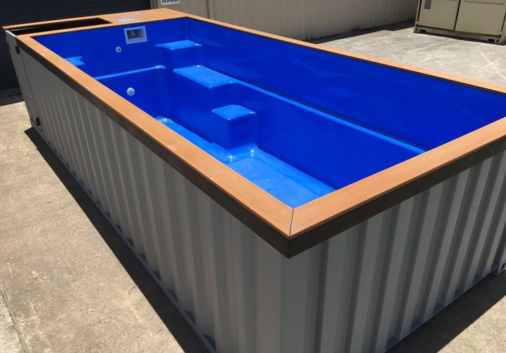Shipping container pools awesome stuff 365 for Piscina container