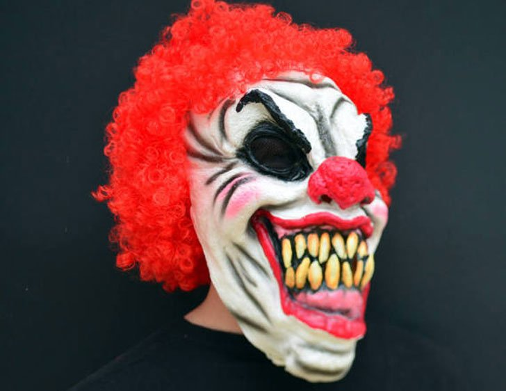 31 Creepy Evil Scary Halloween Clown Mask