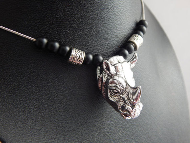African Rhino Necklace