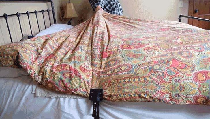 Blanket-Hog Prevention Clamps
