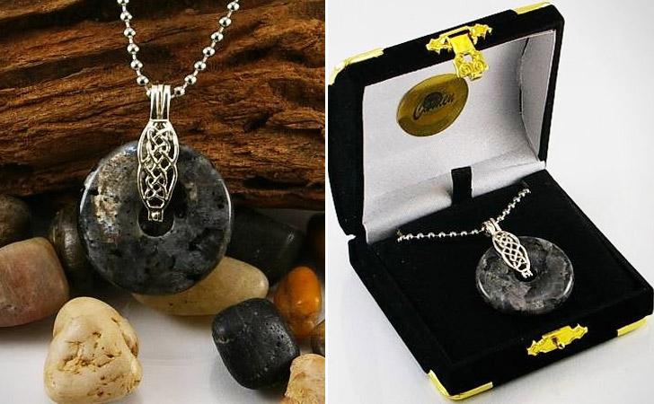 Blue Labradorite Argent Silver Necklace
