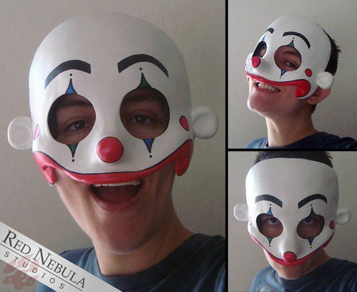 Creepy Smiling Clown Face Mask