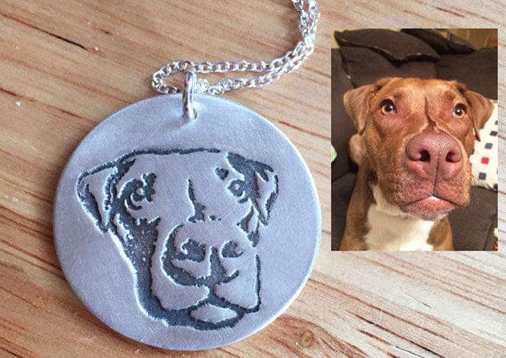 Custom Made Silver Dog Necklace
