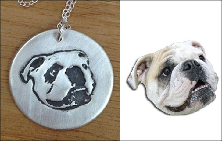 Custom Made Silver Dog Necklace