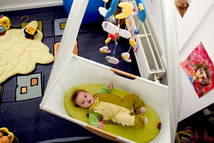 DIY Hanging Cloth Crib