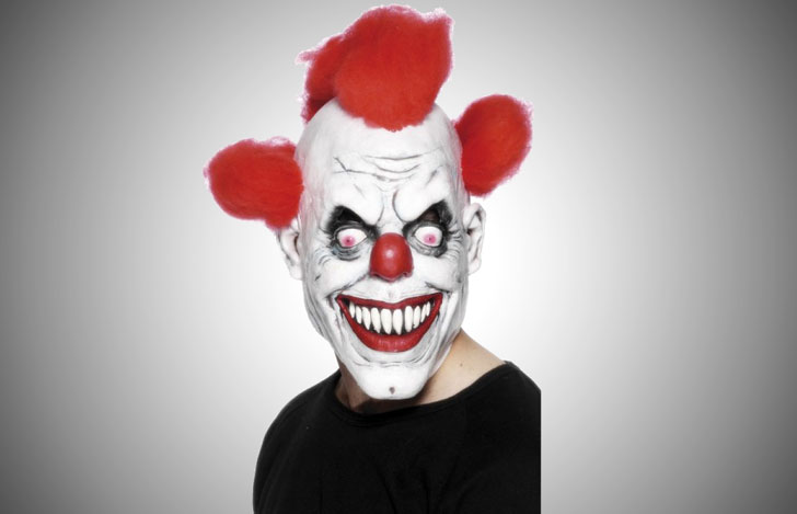 evil-killer-scary-clown-mask - scary clown masks