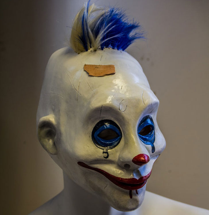Grumpy Dark Knight clown mask